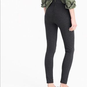 J. Crew grey knit back zip pixie pant charcoal
